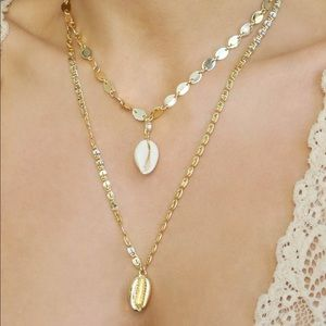 Ettika Cowrie Shell Necklace Combo